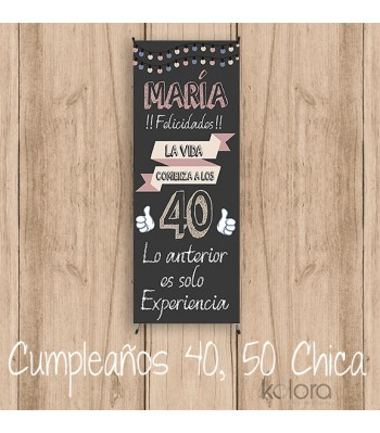 BANNER CUMPLE 40,50... CHICAS