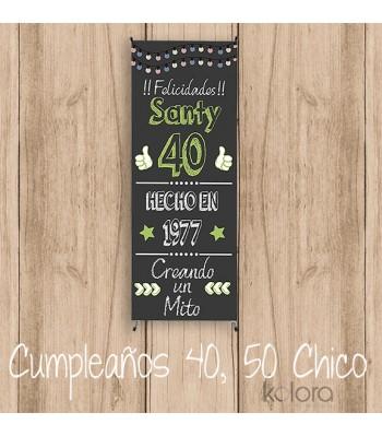 BANNER CUMPLE 40,50 ... CHICOS
