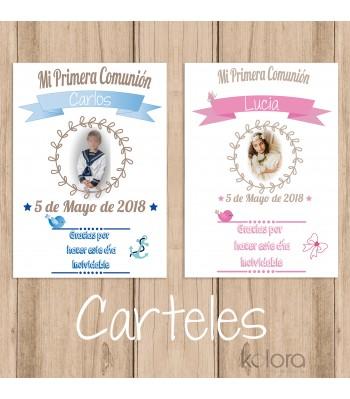 CARTELES PERSONALIZADOS COMUNIÓN