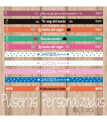 10 PULSERAS DE TELA