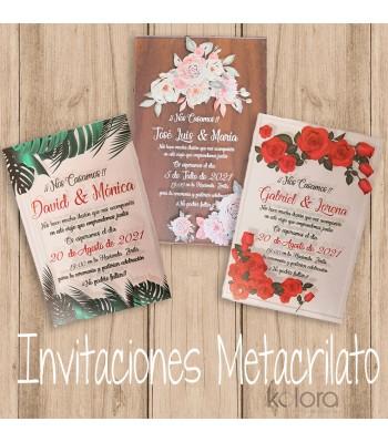 INVITACIONES METACRILATO