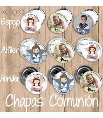 COMUNIÓN CHAPAS (5 Ud)