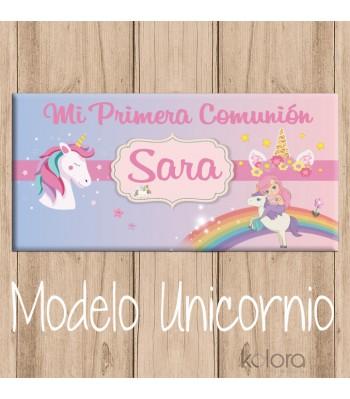 LONA CANDY BAR MODELO UNICORNIO