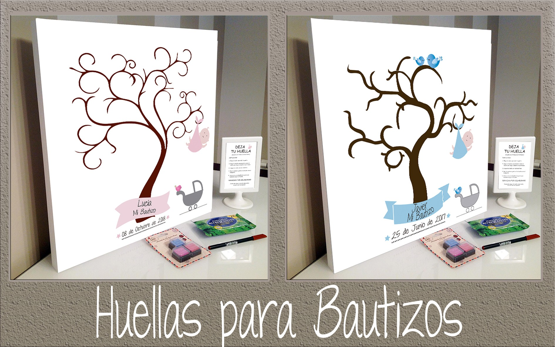 ARBOLES HUELLAS BAUTIZOS